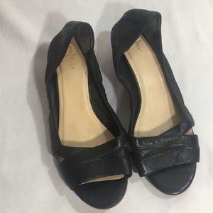 Coleman NikeAir Black peep toe leather sandals